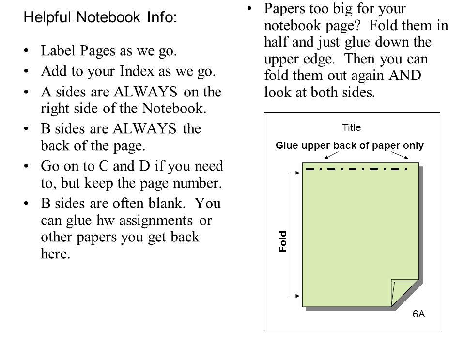 Helpful Notebook Info: