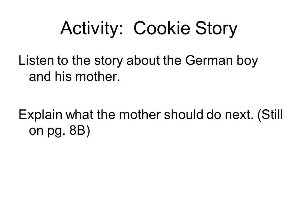 Activity: Cookie Story