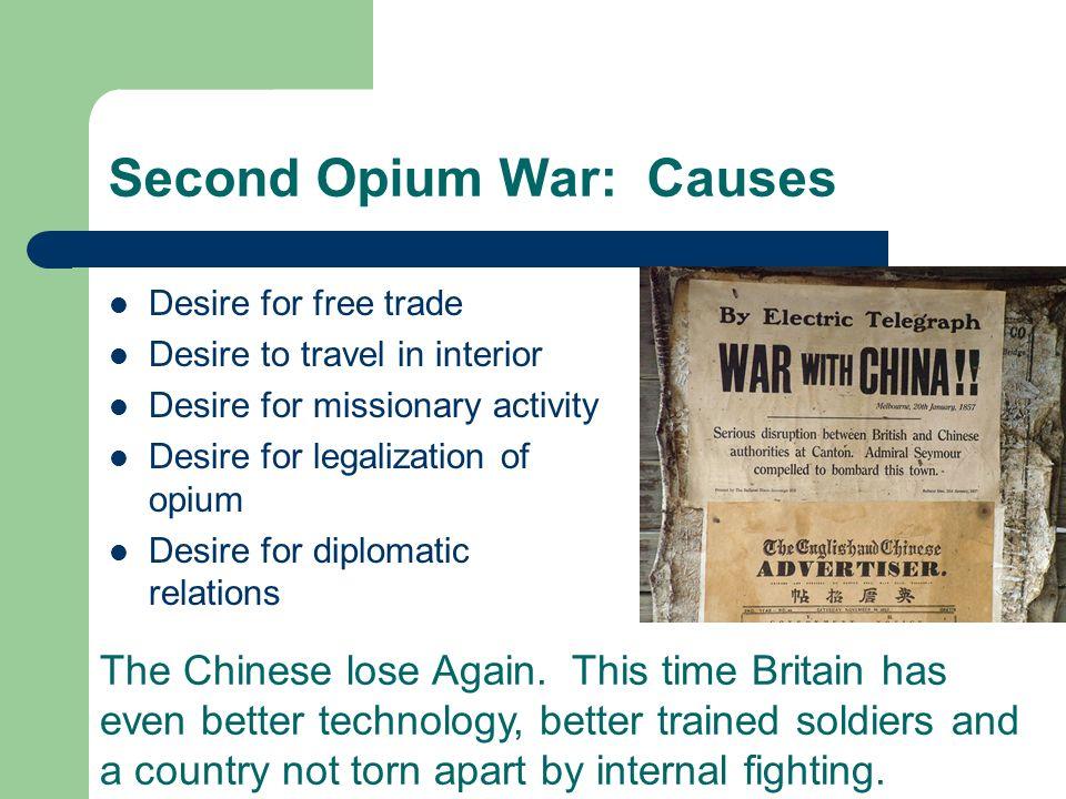 Second Opium War: Causes