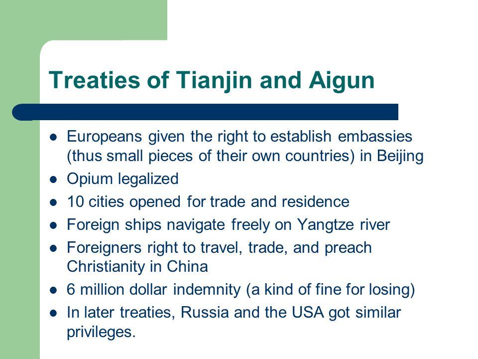 Treaties of Tianjin and Aigun