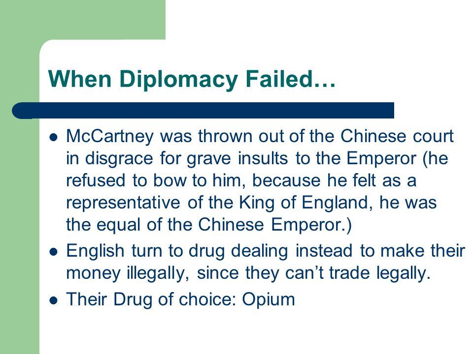 When Diplomacy Failed…
