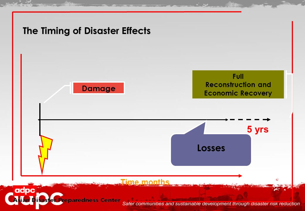 The Timing of Disaster Effects