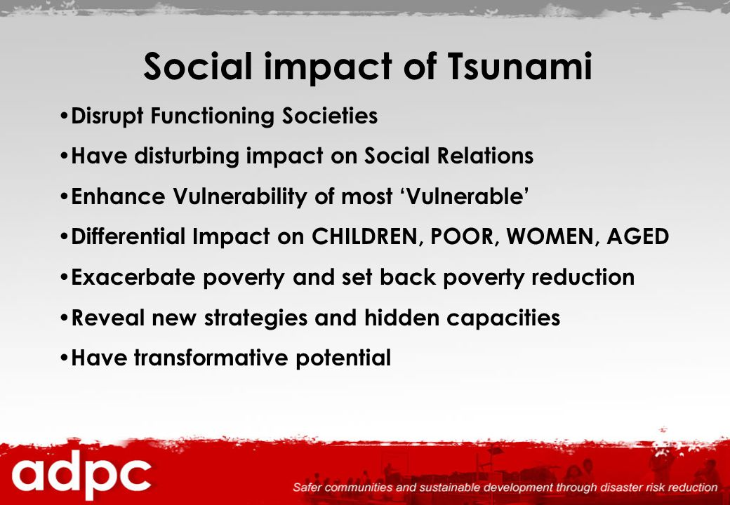Social impact of Tsunami