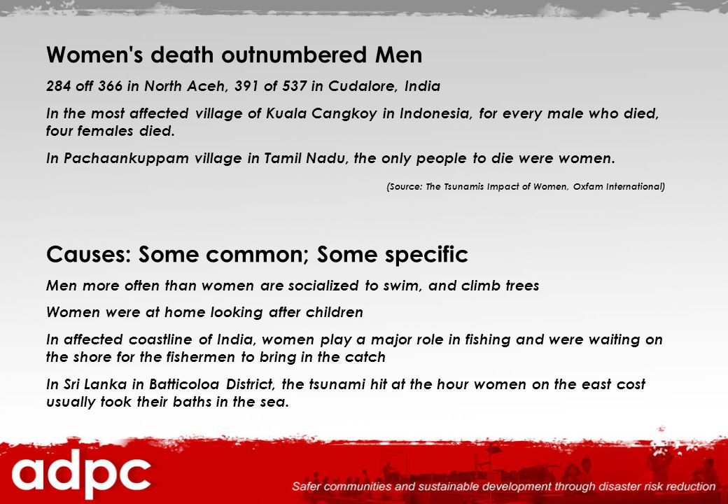 Women s death outnumbered Men