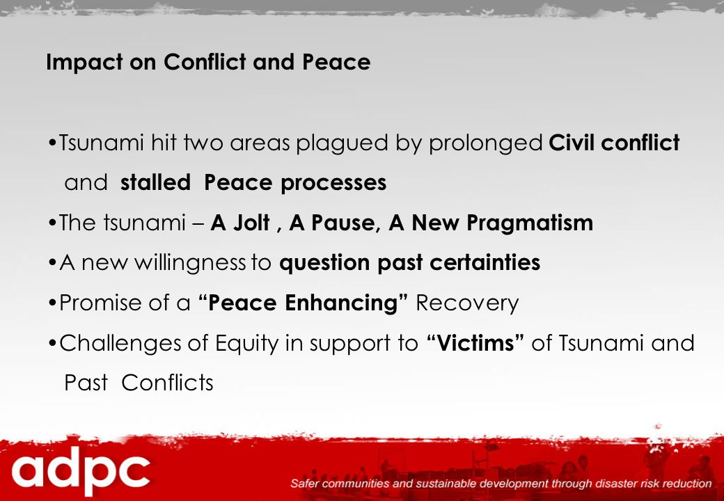 Impact on Conflict and Peace