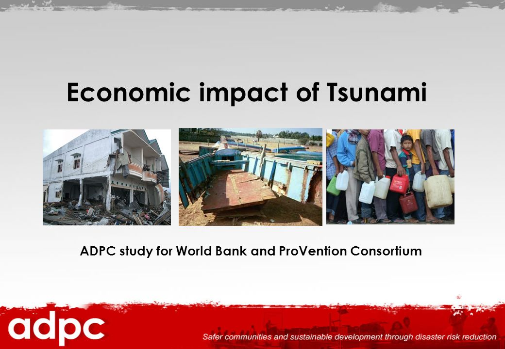 Economic impact of Tsunami