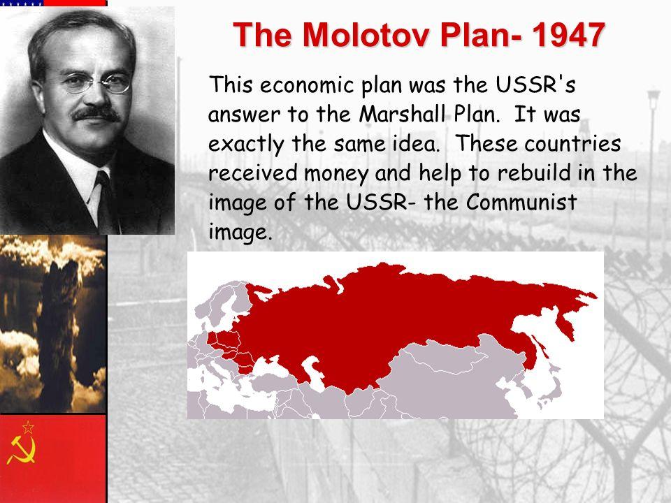 The Molotov Plan- 1947