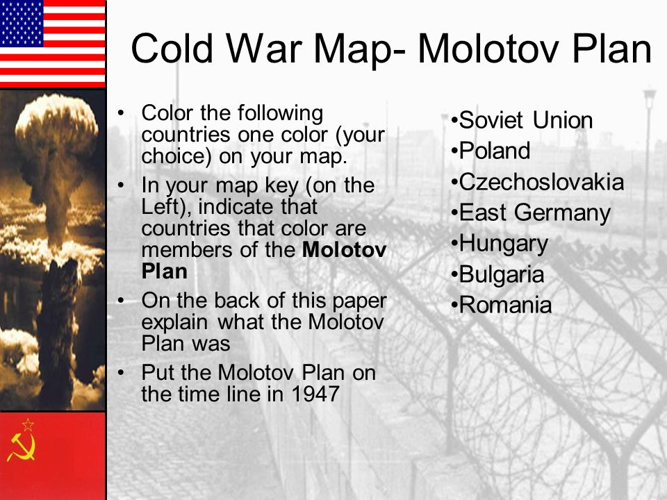 Cold War Map- Molotov Plan