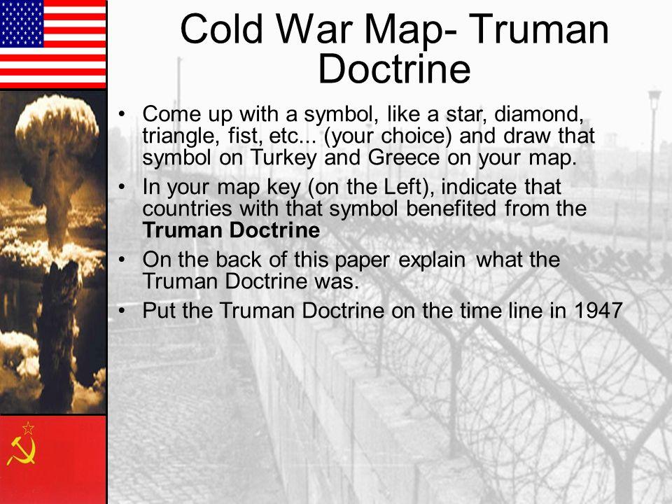 Cold War Map- Truman Doctrine