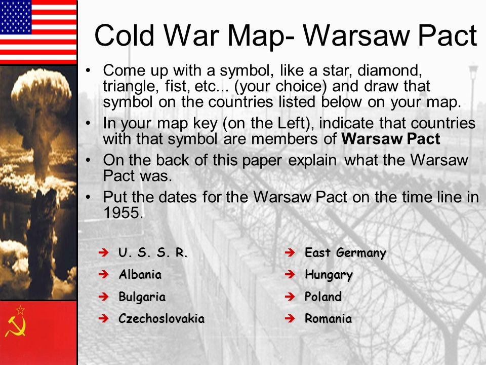 Cold War Map- Warsaw Pact