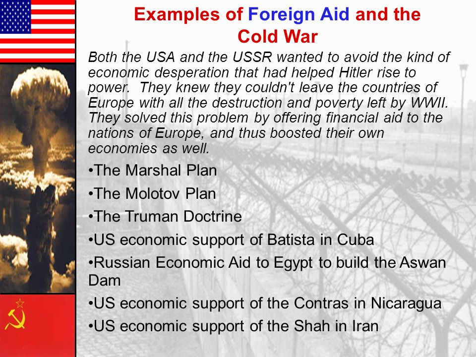 Examples of Foreign Aid and the Cold War