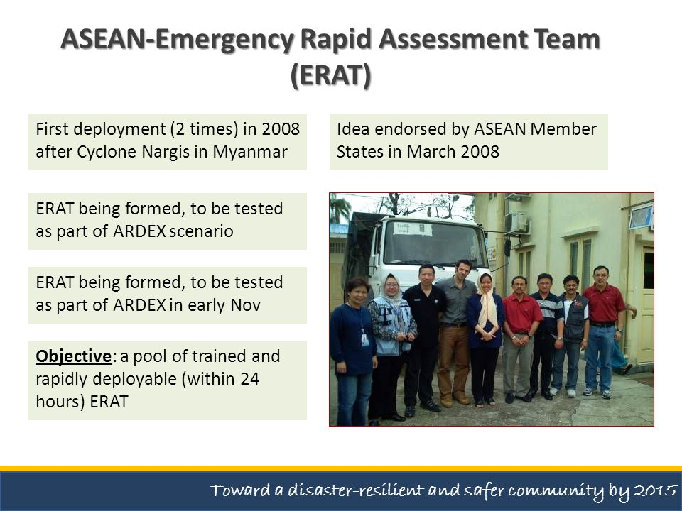 ASEAN-Emergency Rapid Assessment Team (ERAT)