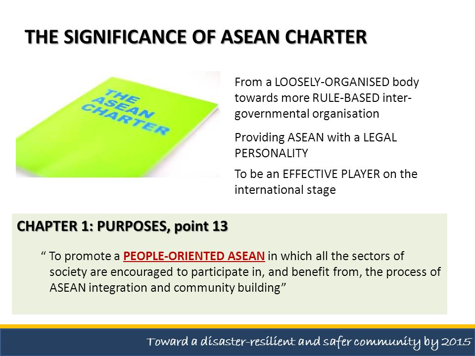 THE SIGNIFICANCE OF ASEAN CHARTER