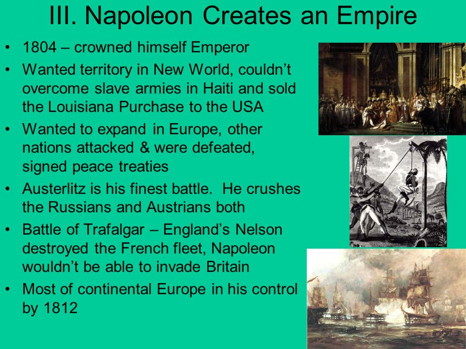 III. Napoleon Creates an Empire