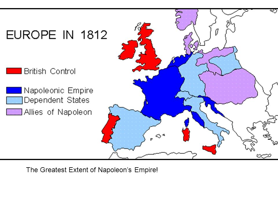 The Greatest Extent of Napoleon's Empire!