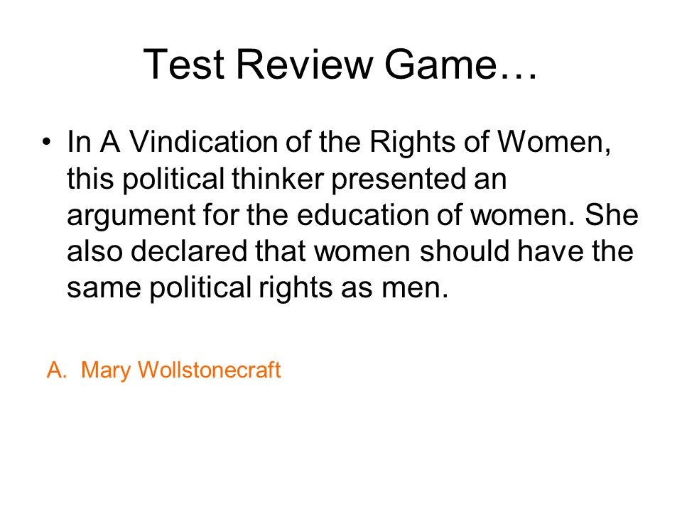 Test Review Game…