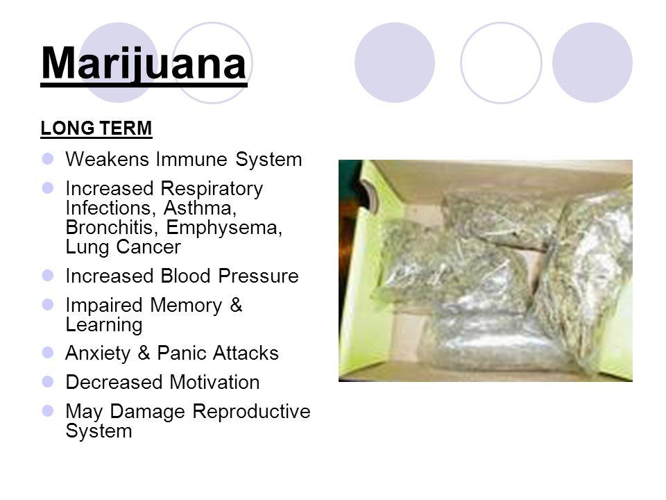 Marijuana Weakens Immune System