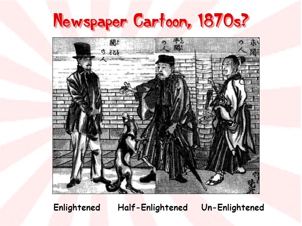 Newspaper Cartoon, 1870s Enlightened Half-Enlightened Un-Enlightened