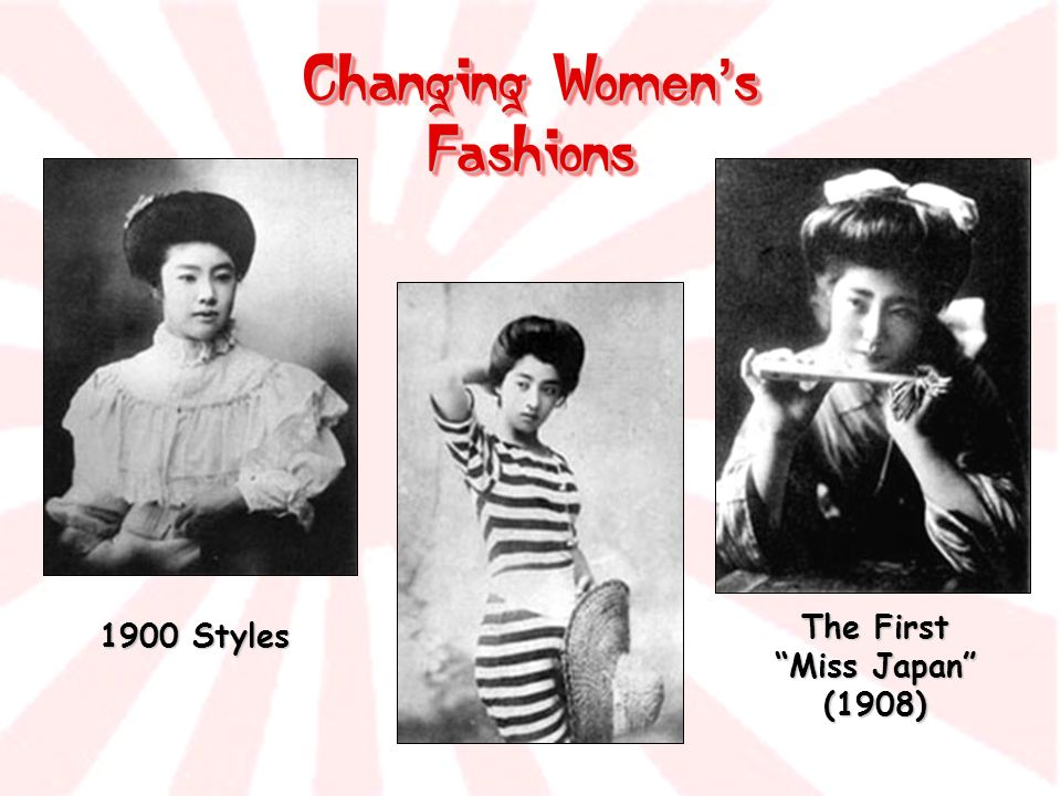 Changing Women's Fashions The First Miss Japan (1908)