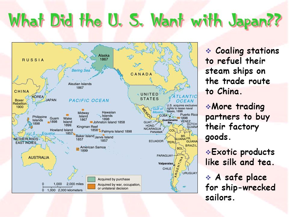 What Did the U. S. Want with Japan