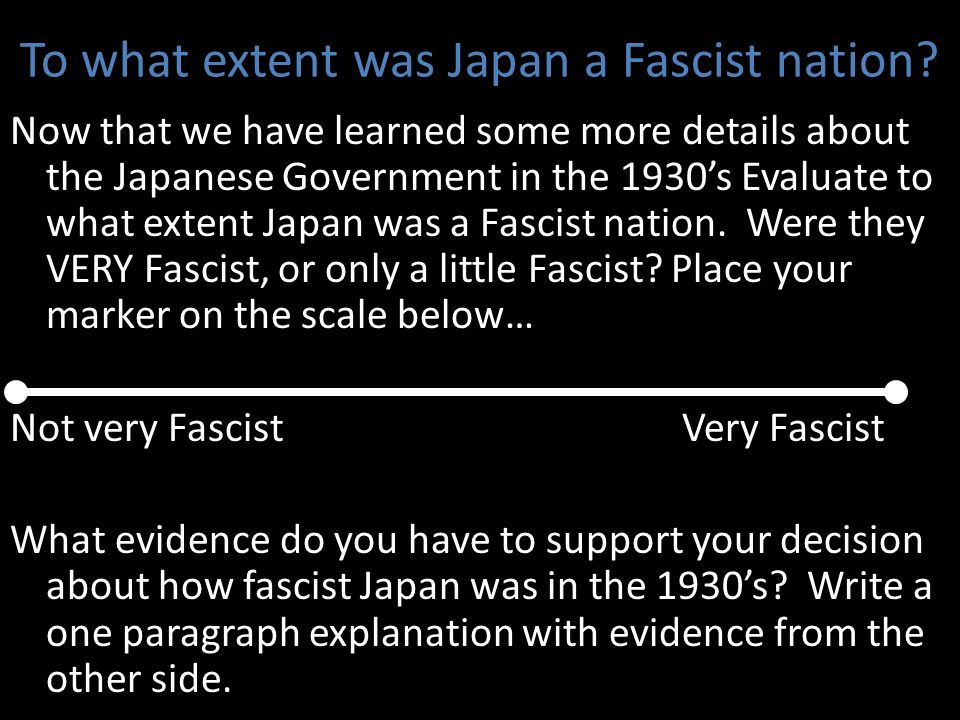 To what extent was Japan a Fascist nation