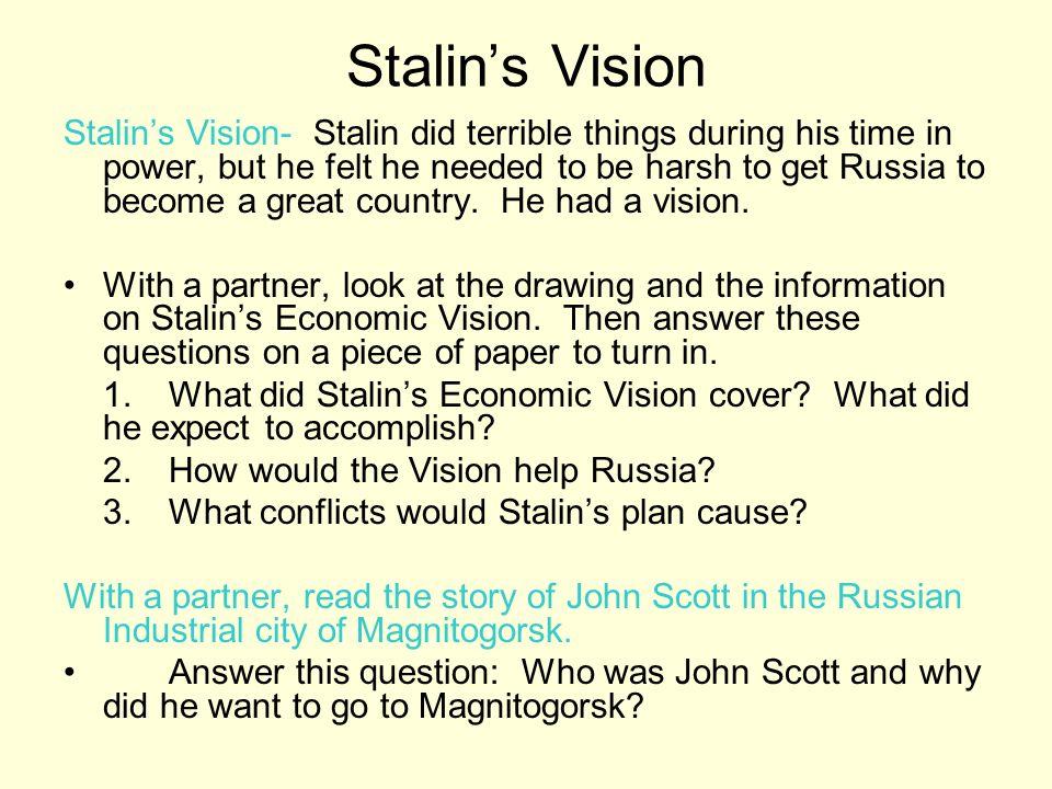 Stalin's Vision