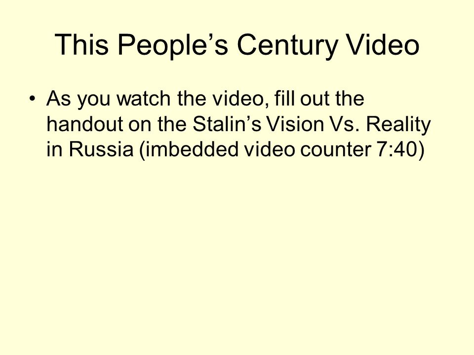 This People's Century Video