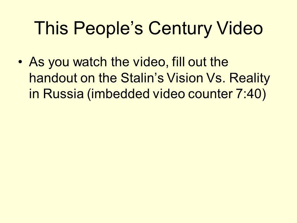 This People's Century Video