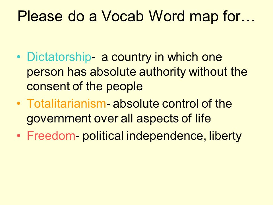 Please do a Vocab Word map for…