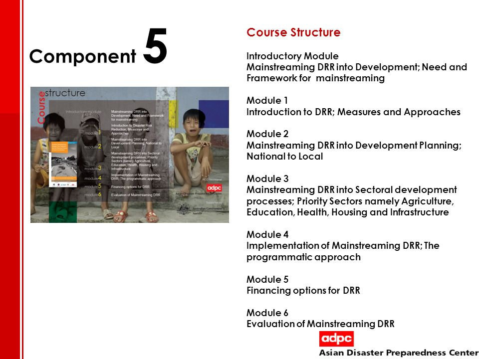 Component 5 Course Structure Introductory Module