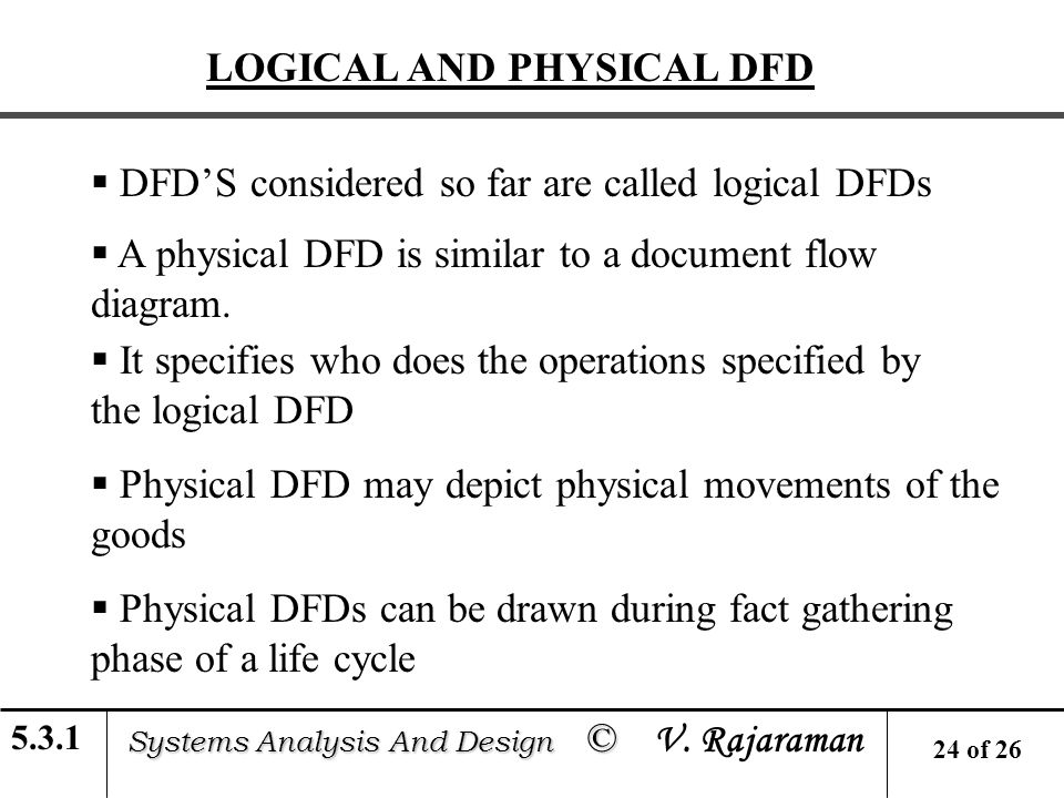 logical and physical design of a