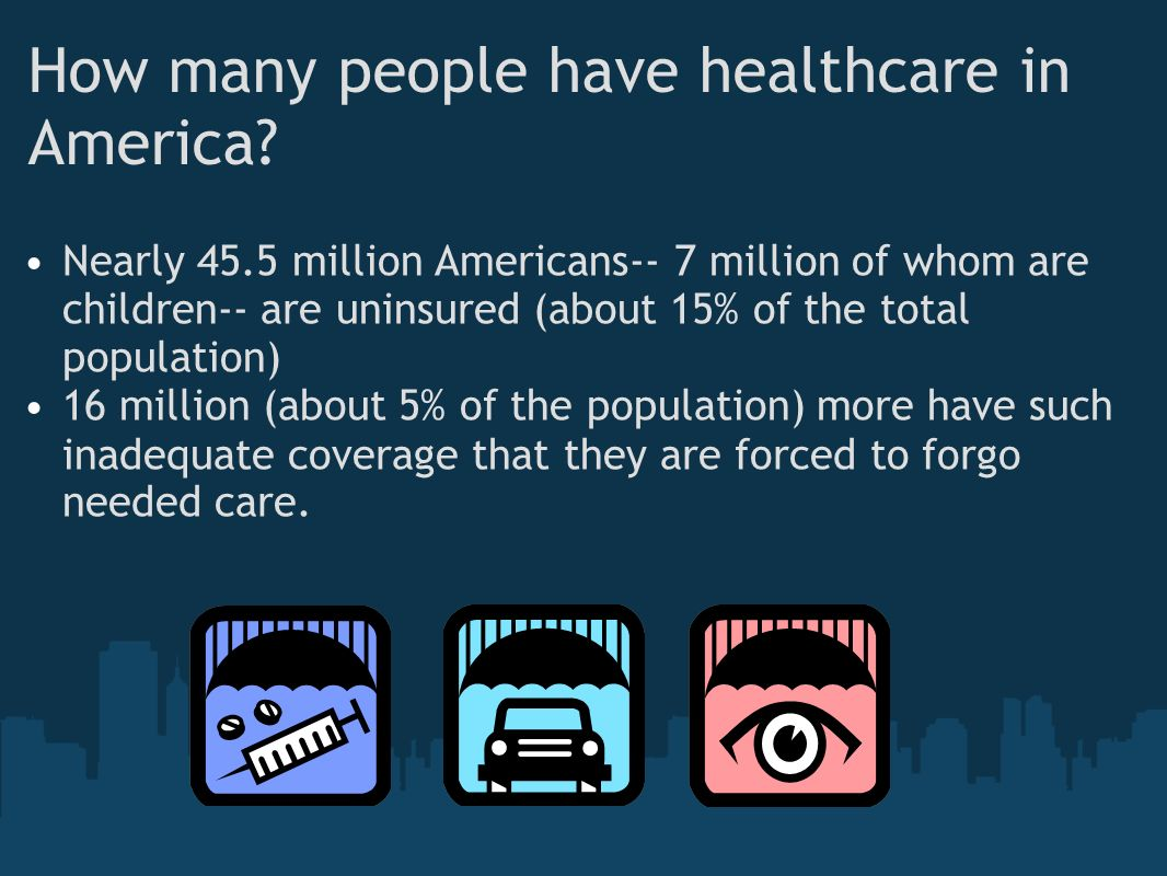 How many people have healthcare in America