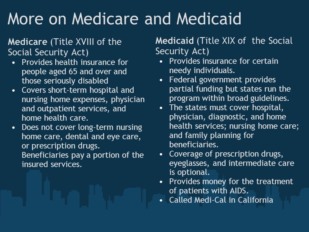More on Medicare and Medicaid