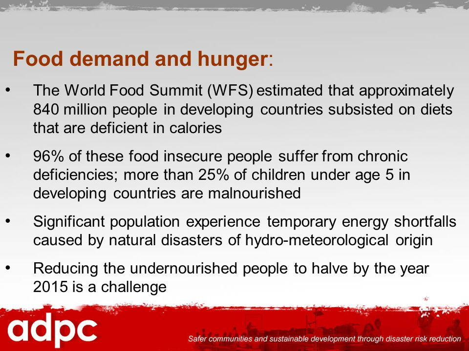 Food demand and hunger: