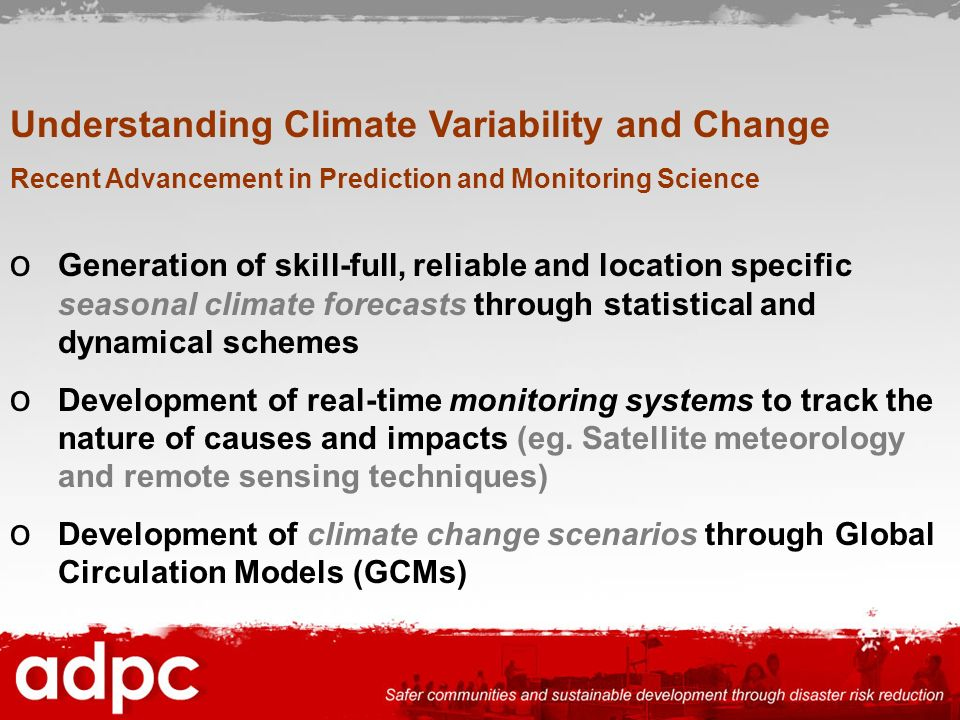 Understanding Climate Variability and Change