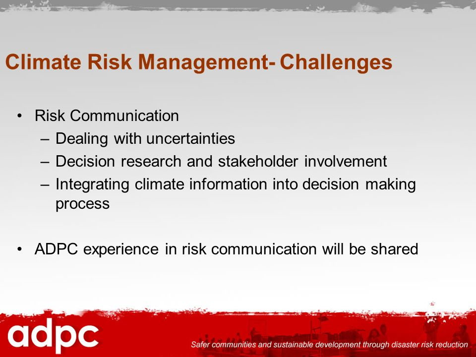 Climate Risk Management- Challenges