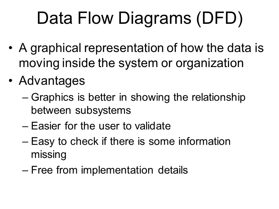 Describing how information is used and how it flows in an organization