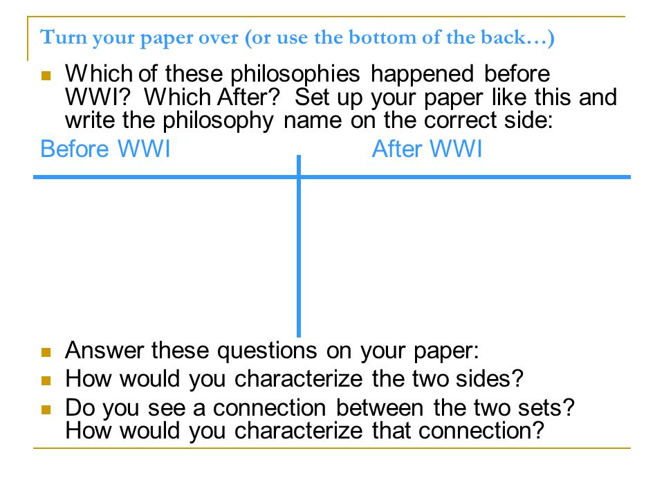 Turn your paper over (or use the bottom of the back…)