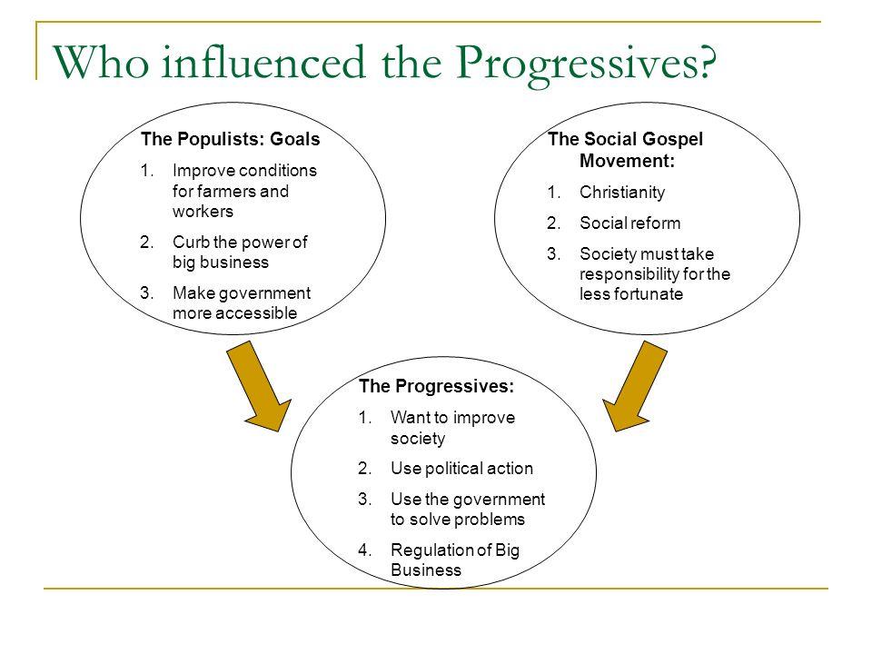 Who influenced the Progressives