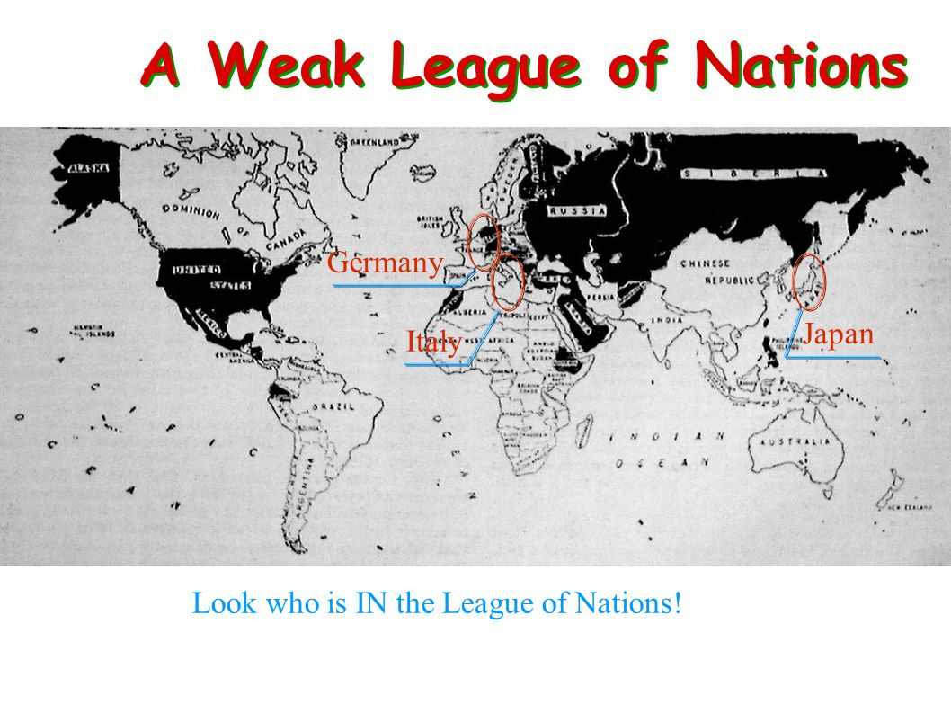 A Weak League of Nations