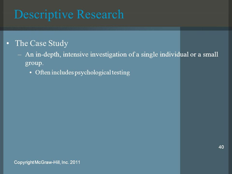 analyze the case study and descriptive approach to research Using interpretive qualitative case studies for using a case study approach in research has several using interpretive qualitative case studies.