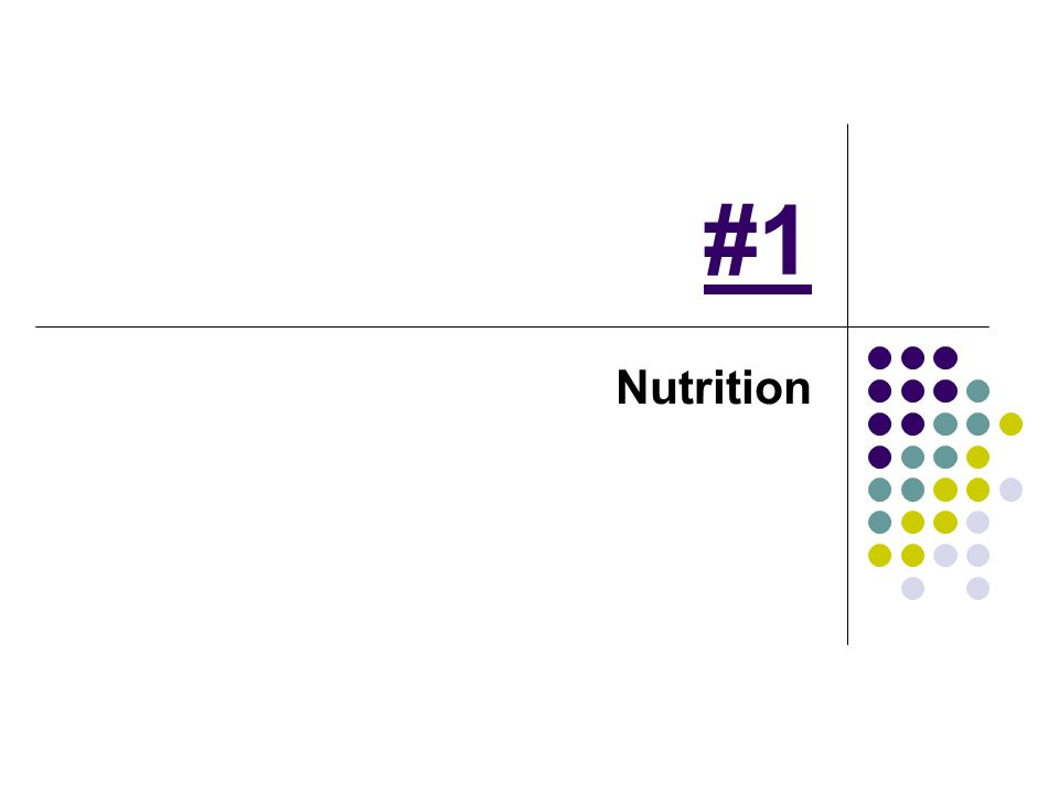 #1 Nutrition