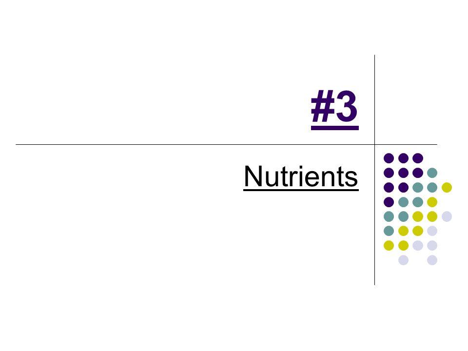 #3 Nutrients