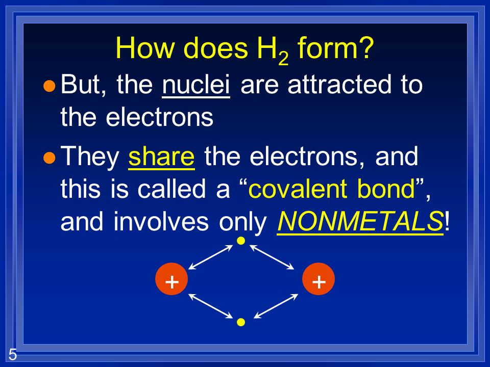 How does H2 form But, the nuclei are attracted to the electrons