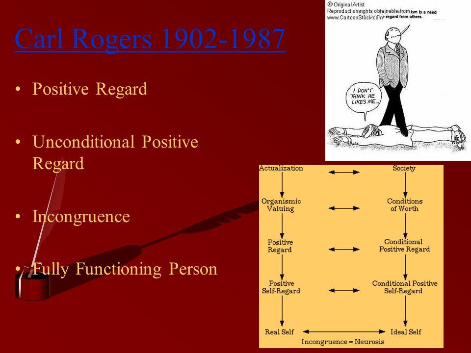 Carl Rogers 1902-1987 Positive Regard Unconditional Positive Regard
