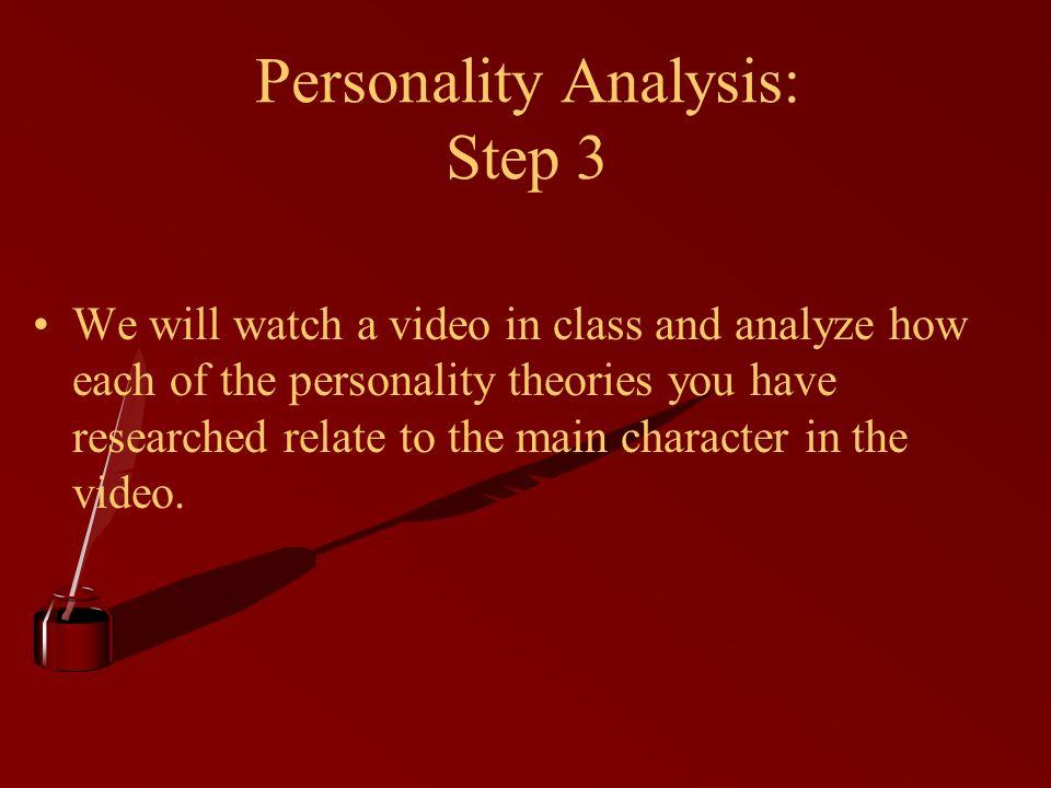 Personality Analysis: Step 3