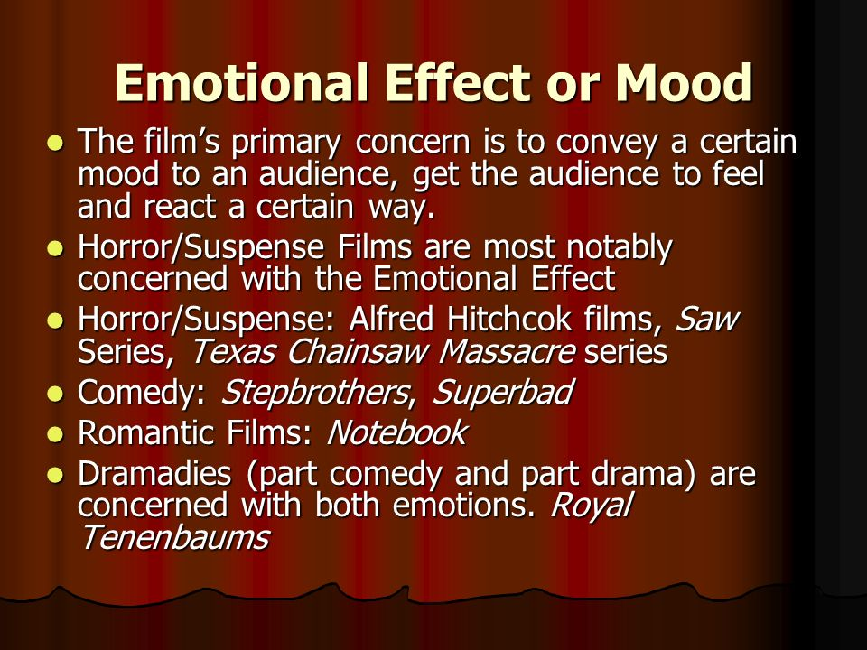 Emotional Effect or Mood