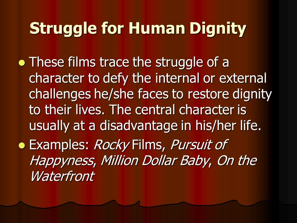 Struggle for Human Dignity