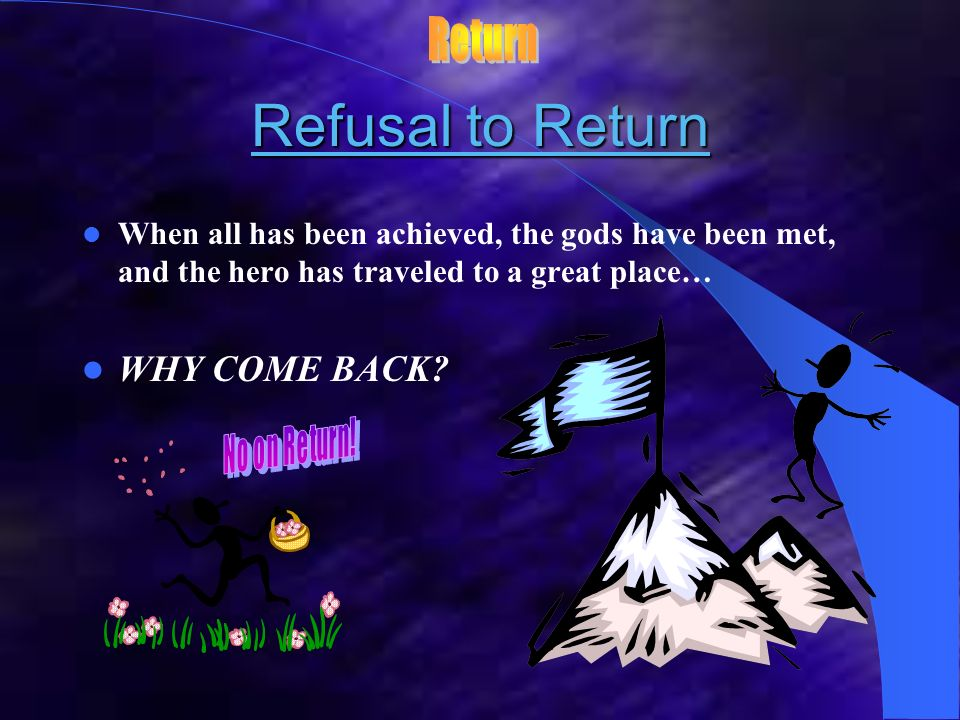 Refusal to Return Return WHY COME BACK