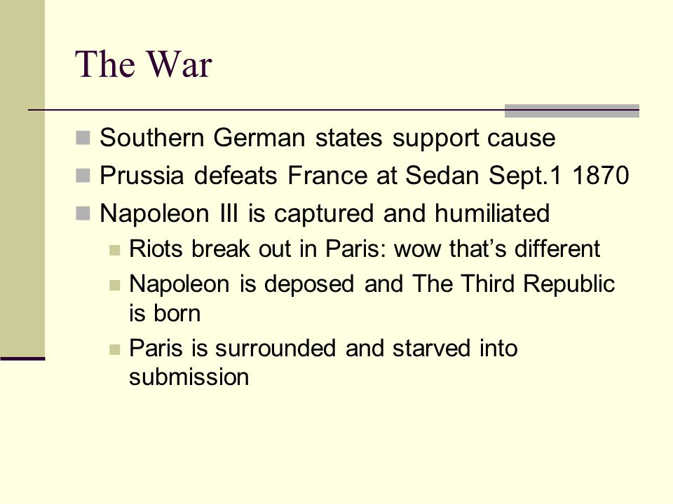 The War Southern German states support cause